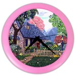 Essex Cottage by Ave Hurley - Color Wall Clock