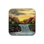 Brenton s Waterfalls by Ave Hurley - Rubber Square Coaster (4 pack)