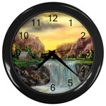 Brenton s Waterfalls by Ave Hurley - Wall Clock (Black)