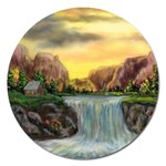 Brenton s Waterfalls by Ave Hurley - Magnet 5  (Round)