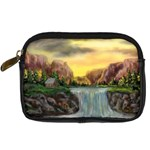 Brenton s Waterfalls by Ave Hurley - Digital Camera Leather Case