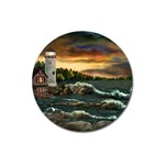 David s Lighthouse by Ave Hurley - Magnet 3  (Round)