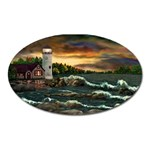 David s Lighthouse by Ave Hurley - Magnet (Oval)
