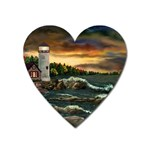 David s Lighthouse by Ave Hurley - Magnet (Heart)