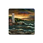 David s Lighthouse by Ave Hurley - Magnet (Square)