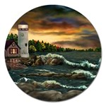 David s Lighthouse by Ave Hurley - Magnet 5  (Round)