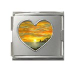 Sunset Of Hope (2mb) Mega Link Heart Italian Charm (18mm)