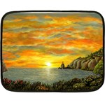 Sunset Of Hope (2mb) Mini Fleece Blanket(Two Sides)