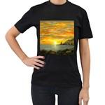 Sunset Of Hope (2mb) Women s Black T-Shirt
