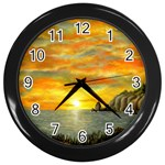 Sunset Of Hope  Wall Clock (Black)
