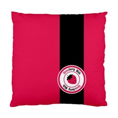 Brand Ribbon Black With Pink Cushion Case (two Sides)