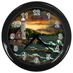 David Bowman Lighthouse Wall Clock (Black)
