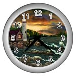 David Bowman Lighthouse Wall Clock (Silver)