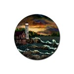 David Bowman Lighthouse Rubber Round Coaster (4 pack)
