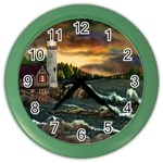David Bowman Lighthouse Color Wall Clock