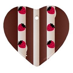 Choco Strawberry Cream Cake Heart Ornament (two Sides)