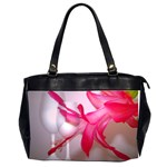 Christmas Cactus And Two Glasses2700x2100 Oversize Office Handbag (Two Sides)