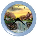 Brenton s Waterfalls by Ave Hurley - Color Wall Clock
