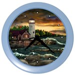 Davids Lighthouse by Ave Hurley - Color Wall Clock