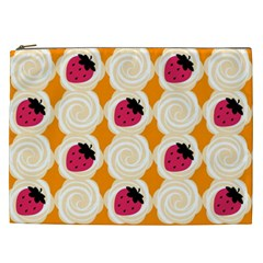 Cake Top Orange Cosmetic Bag (xxl) by strawberrymilk