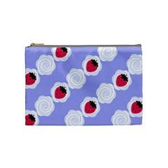 Cake Top Blueberry Cosmetic Bag (medium) by strawberrymilk