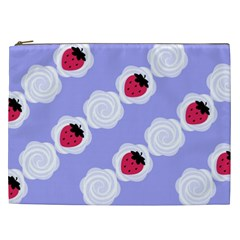 Cake Top Blueberry Cosmetic Bag (xxl) by strawberrymilk