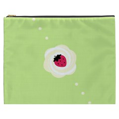Cake Top Lime Cosmetic Bag (xxxl) by strawberrymilk