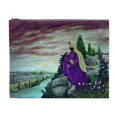 Jesus Overlooking Jerusalem By Ave Hurley  Extra Large Makeup Purse by ArtRave2