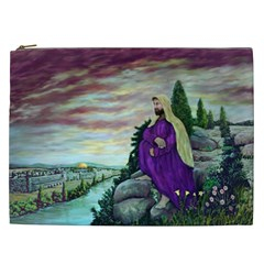Jesus Overlooking Jerusalem By Ave Hurley  Cosmetic Bag (xxl) by ArtRave2