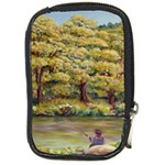 Fishing In Summer  by Ave Hurley Compact Camera Leather Case