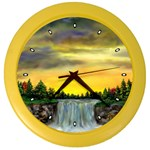 Edwina s Waterfalls   By Ave Hurley Color Wall Clock