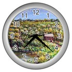 Tenant House in Summer by Ave Hurley - Wall Clock (Silver)