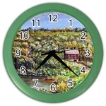 Tenant House in Summer by Ave Hurley - Color Wall Clock