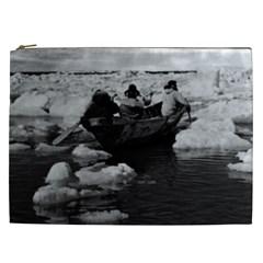 Vintage Usa Alaska Eskimo Hunters 1970 Cosmetic Bag (xxl) by Vintagephotos