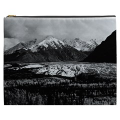 Vintage Usa Alaska Matanuska Clacier 1970 Cosmetic Bag (xxxl) by Vintagephotos