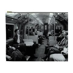 Vintage Uk  England Railway Inside Coach 1970 Extra Large Makeup Purse by Vintagephotos