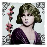 Art Deco Woman in Purple Velvet Large Cushion Case (Two Sides)