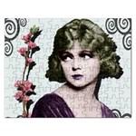 Art Deco Woman in Purple Velvet Jigsaw Puzzle (Rectangular)