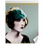 Art Deco Woman in Green Hat Canvas 12  x 16