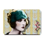 Art Deco Woman in Green Hat Small Doormat