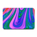 Psychedelic Pink Swirl Small Doormat