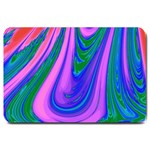 Psychedelic Pink Swirl Large Doormat