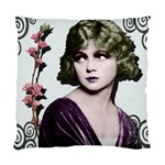 Art Deco Woman in Purple Velvet Cushion Case (Two Sides)