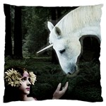 Girl & Her Unicorn Large Cushion Case (One Side)