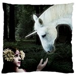 Girl & Her Unicorn Large Cushion Case (Two Sides)