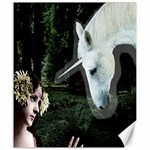 Girl & Her Unicorn Canvas 20  x 24