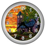 Jessica s Cottage Lighthouse Wall Clock (Silver)
