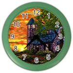 Jessica s Cottage Lighthouse Color Wall Clock