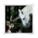 Girl & Her Unicorn Cushion Case (One Side)