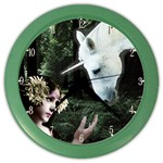 Girl & Her Unicorn Color Wall Clock